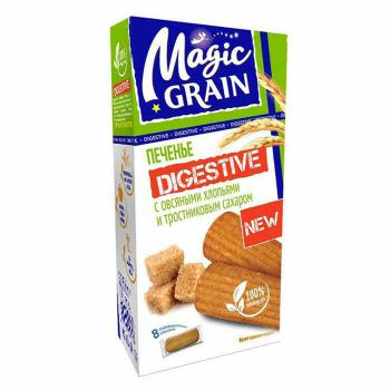 Купить Печенье MAGIC GRAIN DIGESTIVE  Овсян. хлоп/трост. сахар 240г/8 в Москве